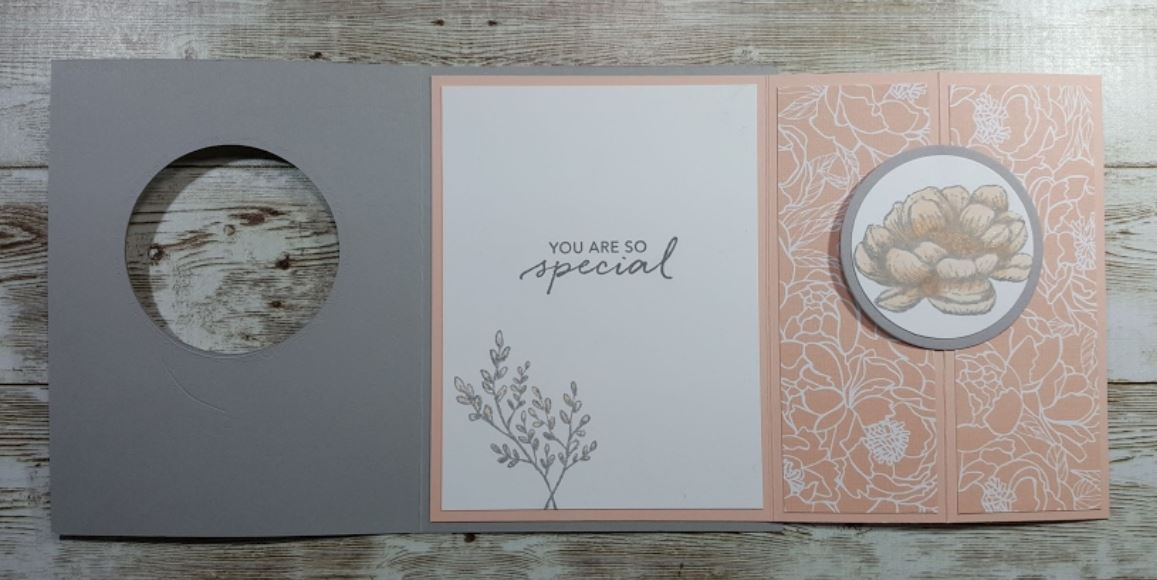 Tasteful Touches Pop Out Card inside